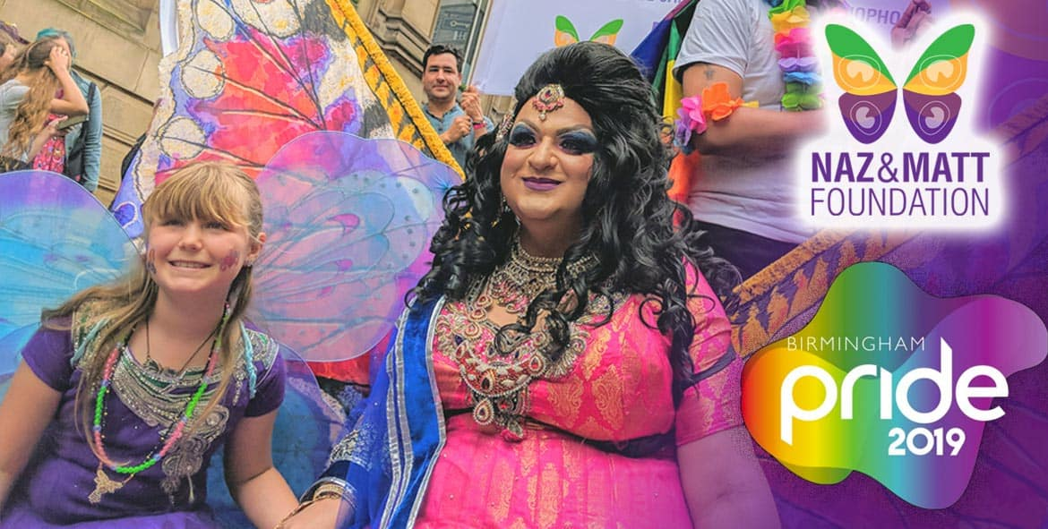 Birmingham Pride 2019 with Naz and Matt Foundation