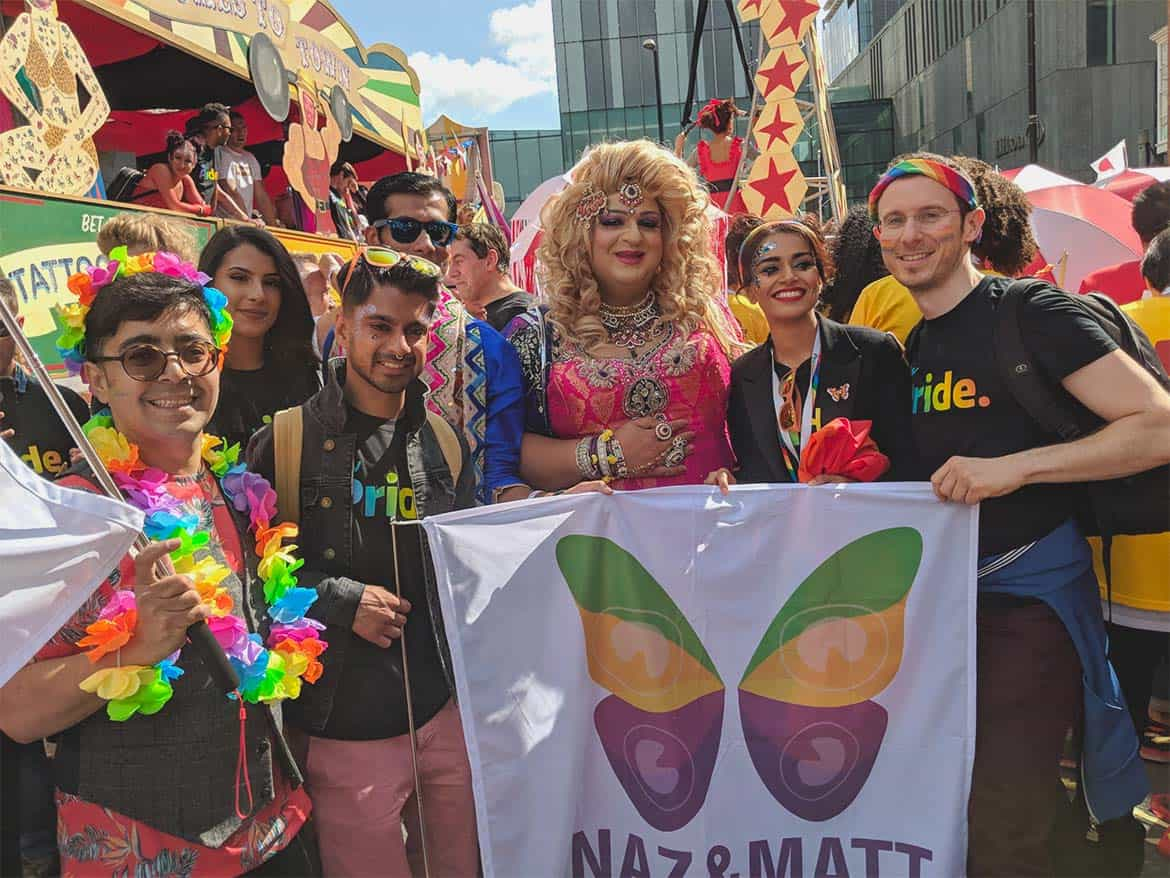 Bhavna Limbachia and Naz and Matt Foundation at Manchester Pride 2018